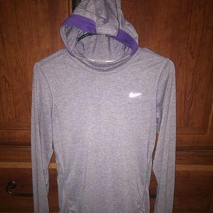 Nike long sleeved hooded running top